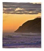 Sunset At North Head II Fleece Blanket