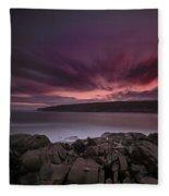 Sunset At Otter Point Fleece Blanket
