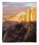 Sunset At The Dome Fleece Blanket