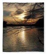 Sunset At The Lake Fleece Blanket