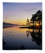Sunset At The Lake, Kenmare, Ring Of Fleece Blanket