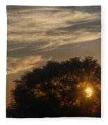 Sunset At The Oasis Fleece Blanket