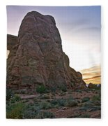 Sunset At Turret Arch Fleece Blanket