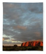 Sunset At Uluru Fleece Blanket
