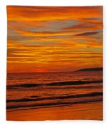 Sunset Colours Fleece Blanket