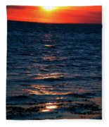 Sunset Denmark Samsoe Island Fleece Blanket
