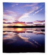 Sunset, Dinish Island Kenmare Bay Fleece Blanket
