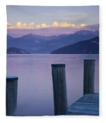 Sunset Dock Fleece Blanket