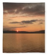 Sunset From The Train Fleece Blanket