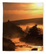 Sunset, Glendalough Glendalough, Co Fleece Blanket