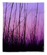 Sunset Grasses Fleece Blanket