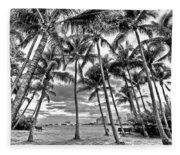 Sunset Grove At Palm Beach Fleece Blanket
