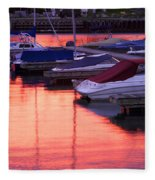 Sunset Harbor Fleece Blanket
