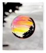 Sunset In A Bubble Fleece Blanket