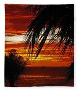 Sunset In Cancun Fleece Blanket