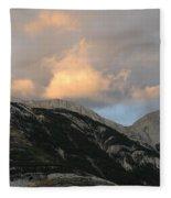 Sunset In Jasper Fleece Blanket