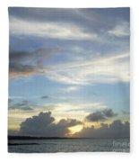 Sunset In Majuro Fleece Blanket