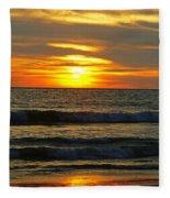 Sunset In Mexico Fleece Blanket
