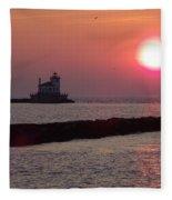 Sunset In New York Fleece Blanket