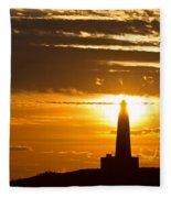 Sunset Obelisk Fleece Blanket