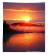 Sunset On Campobello Island  Fleece Blanket