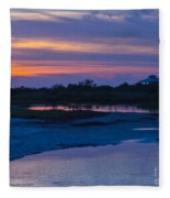 Sunset On Honeymoon Island Fleece Blanket
