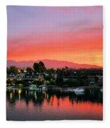 Sunset On Lake Havasu Fleece Blanket