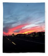 Sunset On Route 66 Fleece Blanket