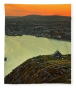 Sunset On St. John's Harbour Fleece Blanket