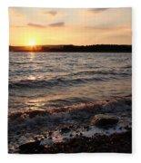 Sunset On The Bay Of Fundy Fleece Blanket