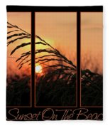 Sunset On The Beach Fleece Blanket