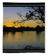 Sunset On The Dock Fleece Blanket