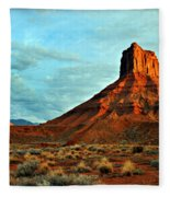 Sunset On The Mesa Fleece Blanket