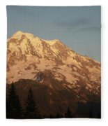 Sunset On The Mountain Fleece Blanket