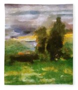 Sunset On The Road - The Highway Series Fleece Blanket