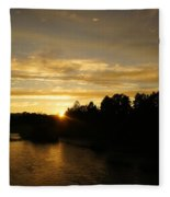 Sunset On The Rogue River Fleece Blanket