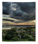 Sunset On The Sound Fleece Blanket