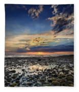 Sunset Over Bound Brook Island Fleece Blanket