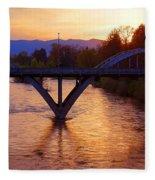 Sunset Over Caveman Bridge Fleece Blanket