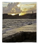 Sunset Over Dubrovnik 2 Fleece Blanket