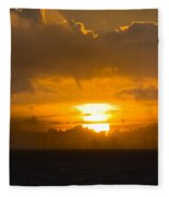 Sunset Over Miami Fleece Blanket