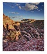 Sunset Over Red Rocks Fleece Blanket
