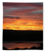 Sunset Over Seneca Lake Fleece Blanket
