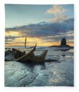 Sunset Over The Admiral Fleece Blanket