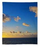 Sunset Over The Caribbean Sea Fleece Blanket
