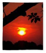Sunset Over The Golf Course Fleece Blanket