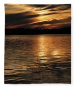 Sunset Over The Lake - 3rd Place Win Fleece Blanket