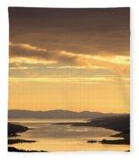 Sunset Over Water, Argyll And Bute Fleece Blanket