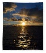 Sunset Over Winnepesaukee Fleece Blanket