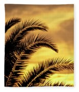 Sunset Palms Fleece Blanket